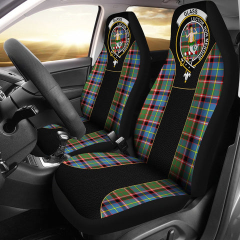 Glass Tartan Car Seat Cover Clan Badge - Special Version