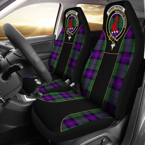 Armstrong Tartan Car Seat Cover Clan Badge - Special Version