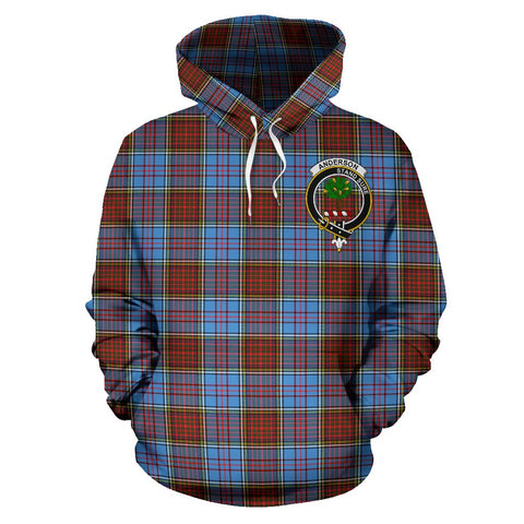 Image of Tartan Clan Anderson Plaid Hoodie With Crest