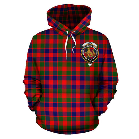 Tartan Clan Gow Of Mcgouan Plaid Hoodie With Crest
