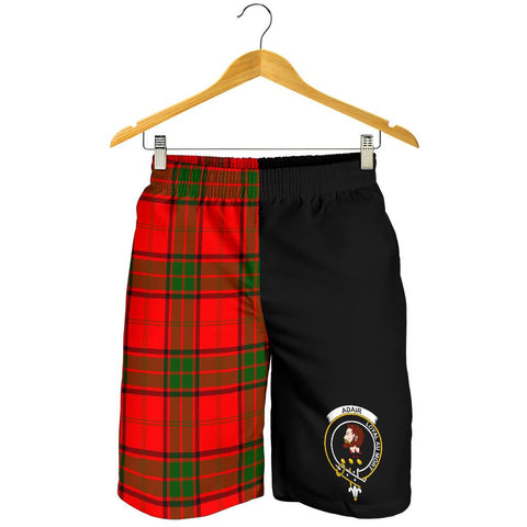 Image of Tartan Mens Shorts - Clan Adair Crest & Plaid Shorts - Half Of Me Style