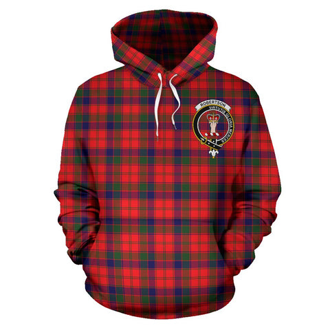 Image of Tartan Clan Robertson Plaid Hoodie With Crest