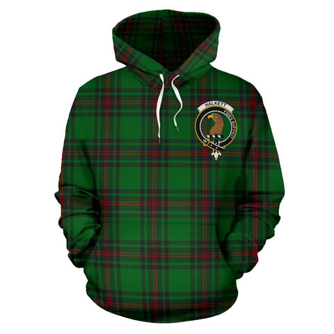 Tartan Clan Halkett Plaid Hoodie With Crest