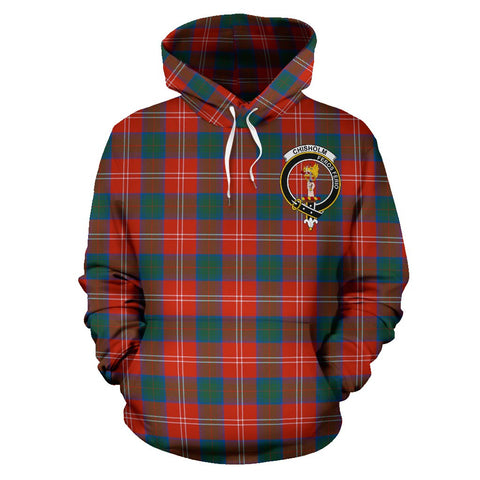 Tartan Clan Chisholm Plaid Hoodie With Crest