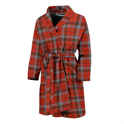 Robertson Weathered Bathrobe | Men Tartan Plaid Bathrobe | Universal Fit