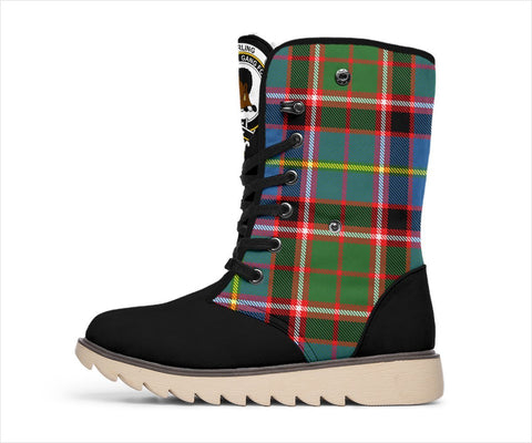 Tartan Women's Snow Boots - Clan Stirling (of Keir) Boots - BN