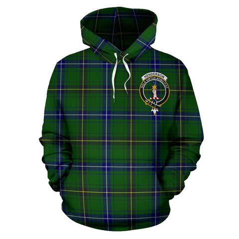 Image of Tartan Clan Henderson Plaid Hoodie With Crest