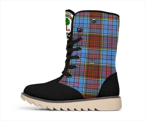 Tartan Women's Snow Boots - Clan Anderson Boots - BN
