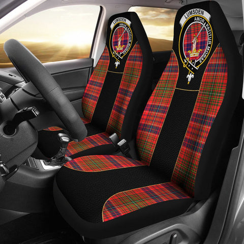 Image of Lumsden Tartan Car Seat Cover Clan Badge - Special Version