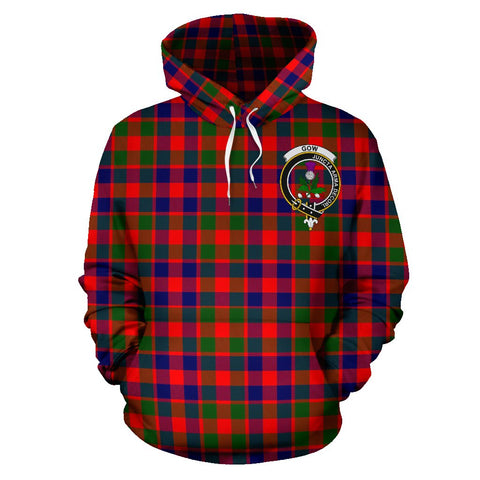 Tartan Clan Gow Of Skeoch Plaid Hoodie With Crest