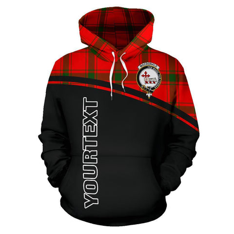 MacDonald of Sleat Tartan Custom Personalised Hoodie - Curve Style Front