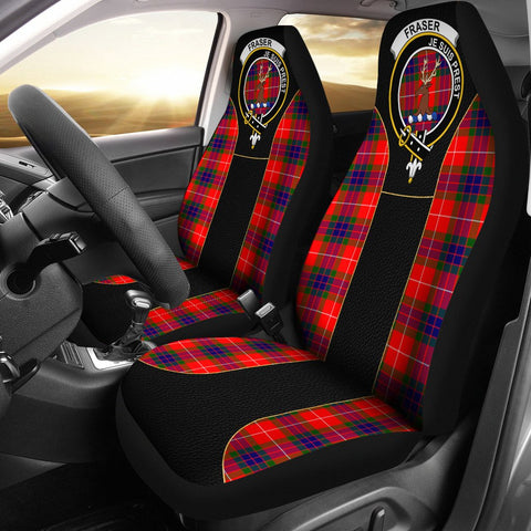 Fraser (Of Lovat) Tartan Car Seat Cover Clan Badge - Special Version