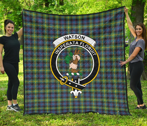 Premium Quilt - Watson Ancient Tartan Quilt - Clan Crest TH8