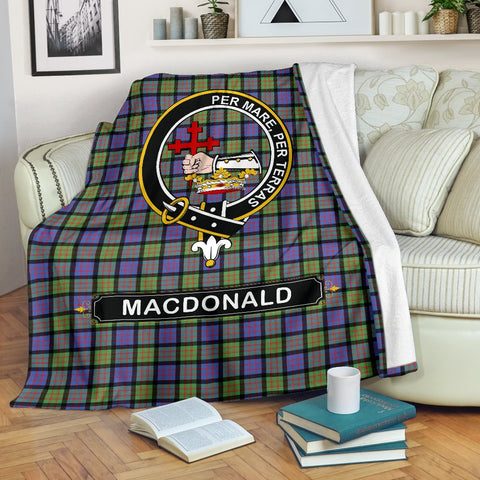 MacDonald (Clan Donald) Crest Tartan Blanket | Tartan Home Decor | ScottishShop