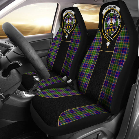 Whitelaw Tartan Car Seat Cover Clan Badge - Special Version