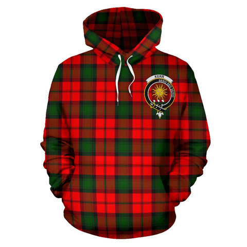 Tartan Clan Kerr Plaid Hoodie With Crest
