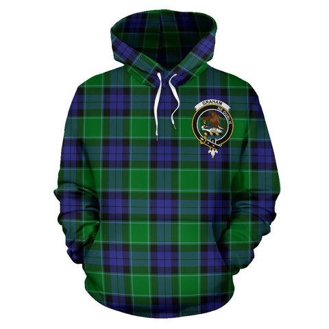 Image of Tartan Clan Graham Of Menteith Plaid Hoodie With Crest