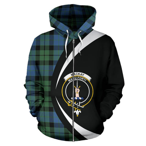 Image of Tartan Zip Up Hoodie - Clan Mackay Ancient Zip Up Hoodie - Circle Style Unisex