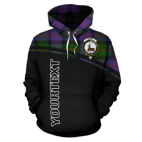 Image of Blair Tartan Custom Personalised Hoodie - Curve Style Front