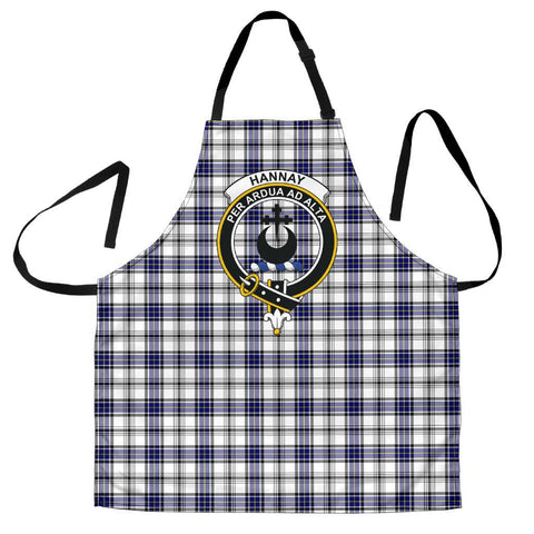 Image of Tartan Apron - Hannay Modern Apron With Clan Crest HJ4