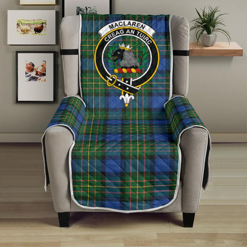 Image of Clan MacLaren Ancient Plaid & Crest Tartan Sofa Protector - 23 Inches