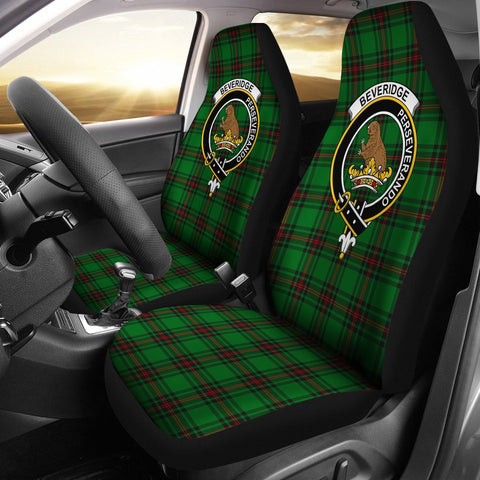 ScottishShop Seat Cover - Tartan Crest Beveridge Car Seat Cover Clan Badge - Universal Fit