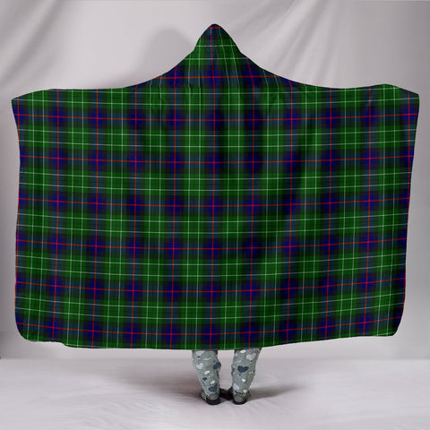 Image of Leslie Hunting, hooded blanket, tartan hooded blanket, Scots Tartan, Merry Christmas, cyber Monday, xmas, snow hooded blanket, Scotland tartan, woven blanket