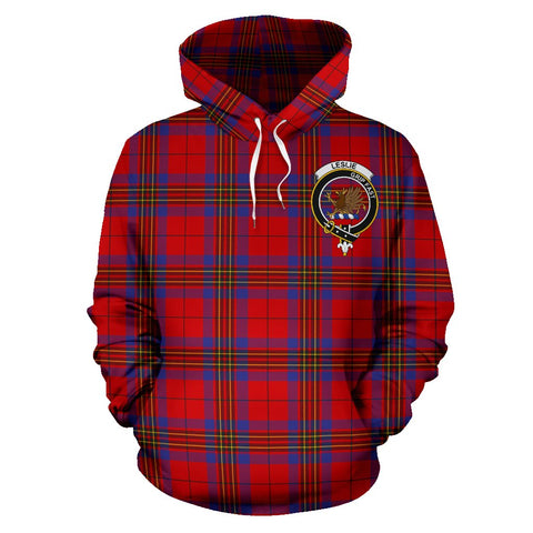 Tartan Clan Leslie Plaid Hoodie With Crest