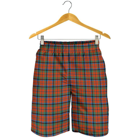 Tartan Mens Shorts - Clan MacNaughton Ancient Plaid Shorts