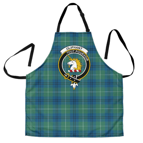 Tartan Apron - Oliphant Ancient Apron With Clan Crest HJ4