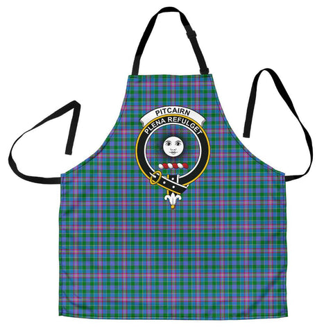 Tartan Apron - Pitcairn Hunting Apron With Clan Crest HJ4