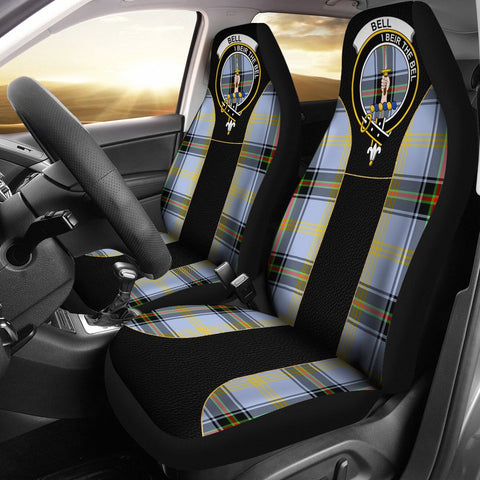 Bell Of The Borders Tartan Car Seat Cover Clan Badge - Special Version