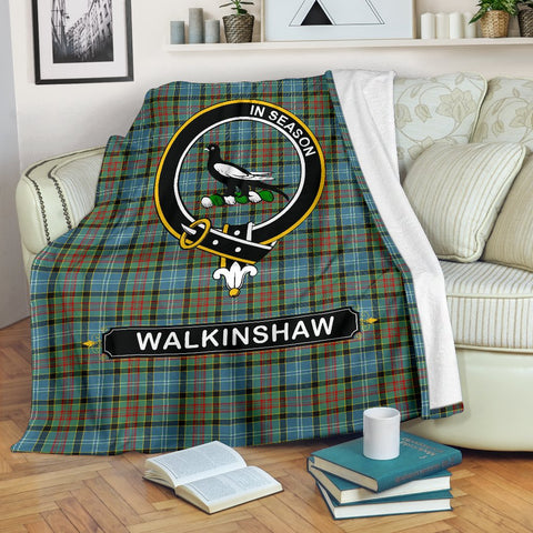 Walkinshaw Crest Tartan Blanket | Tartan Home Decor | ScottishShop