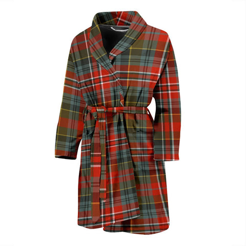 MacPherson Weathered Bathrobe | Men Tartan Plaid Bathrobe | Universal Fit