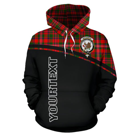 Image of MacKinnon Tartan Custom Personalised Hoodie - Curve Style Front