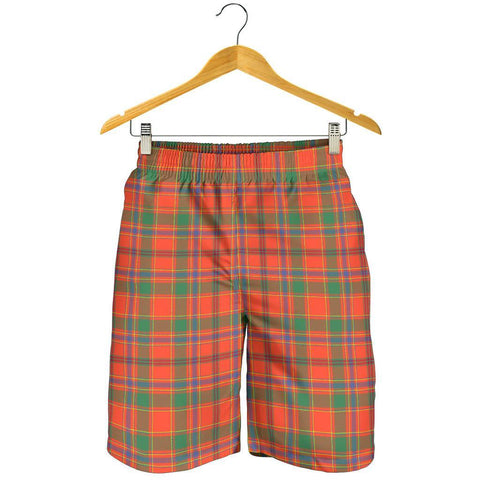 Image of Tartan Mens Shorts - Clan Munro Ancient Plaid Shorts