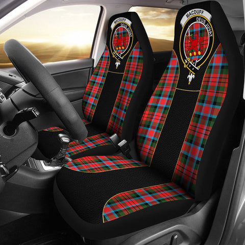 Image of Macduff Tartan Car Seat Cover Clan Badge - Special Version