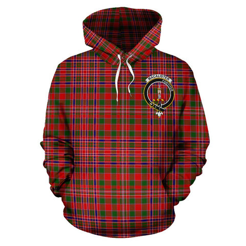 Tartan Clan Macalister Plaid Hoodie With Crest