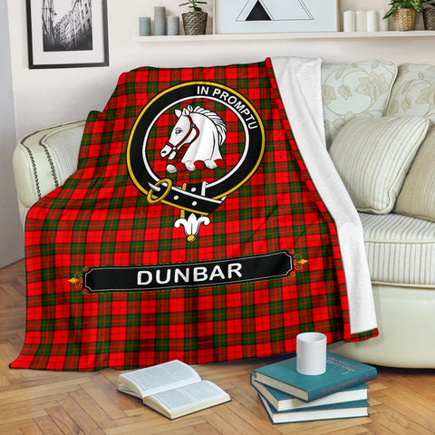 Image of Dunbar Crest Tartan Blanket | Tartan Home Decor | ScottishShop