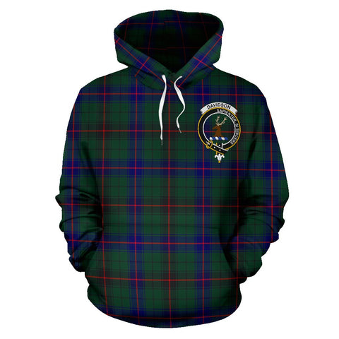 Image of Tartan Clan Davidson Plaid Hoodie With Crest