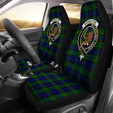ScottishShop Seat Cover - Tartan Crest Bannatyne Car Seat Cover Clan Badge - Universal Fit