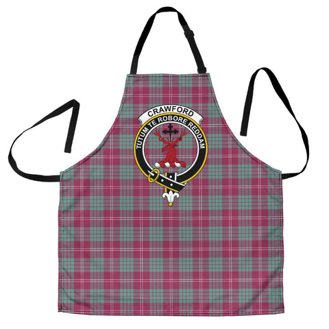 Tartan Apron - Crawford Ancient Apron With Clan Crest HJ4