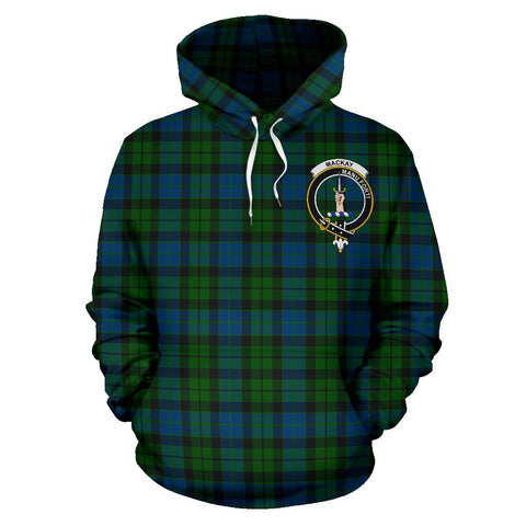 Image of Tartan Clan Mackay Plaid Hoodie With Crest