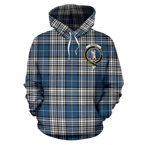 Tartan Clan Napier Plaid Hoodie With Crest