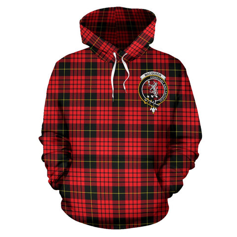 Tartan Clan Macqueen Plaid Hoodie With Crest