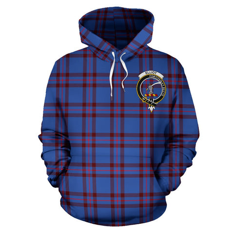 Tartan Clan Elliot Plaid Hoodie With Crest
