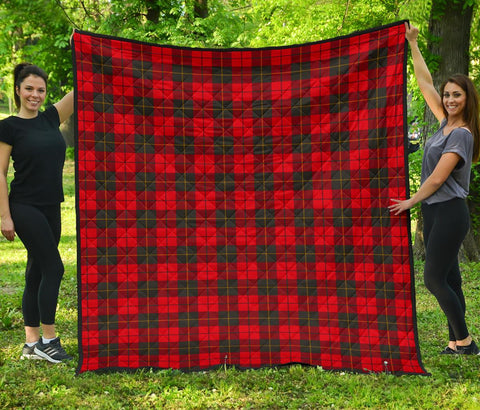 Image of Premium Quilt - Wallace Weathered Tartan Quilt TH8