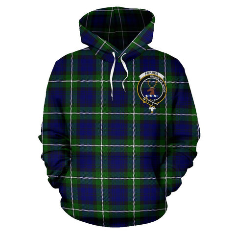 Image of Tartan Clan Forbes Plaid Hoodie With Crest