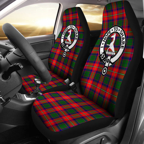 Seat Cover - Tartan Crest Roxburgh Car Seat Cover - Universal Fit