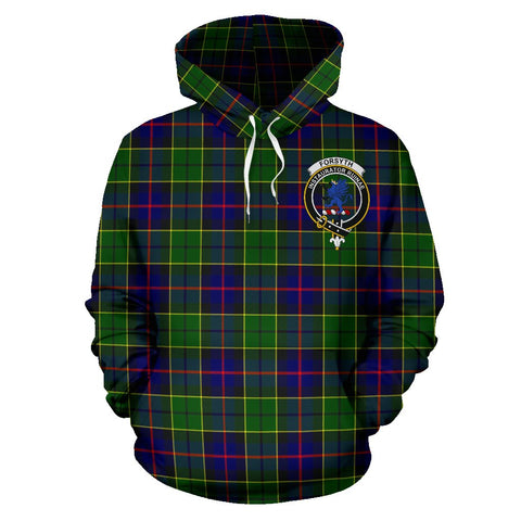 Image of Tartan Clan Forsyth Plaid Hoodie With Crest
